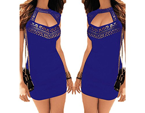 Christmas PEGGYNCO Womens Gold Stamping Neck Blue Mini Dress Size S (Shoes From The Movie Burlesque)