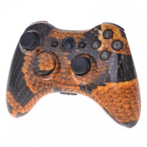 xbox-360-custom-wireless-elite-controller-orange-gold-dragon-scales-control-blast-uk-by-control-blas
