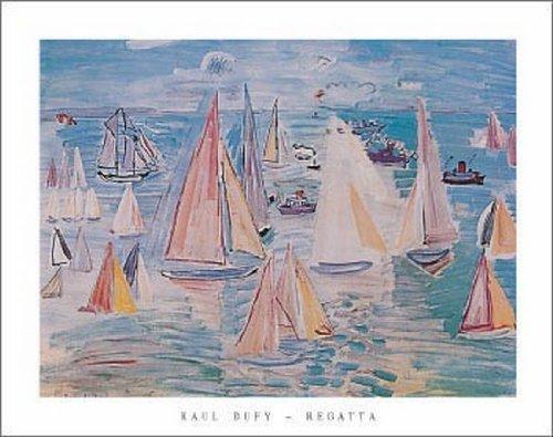 Raoul Dufy - Regatta Fine Art Print (71.12 x 55.88 cm)