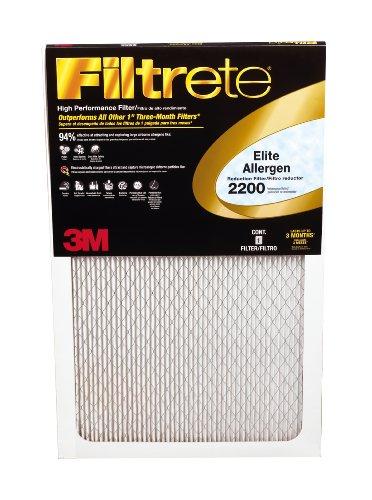 Filtrete EA01-2PK-1 Elite Allergen Reduction Filters, 2200 MPR, 16 x 25 x 1, 2-Pack