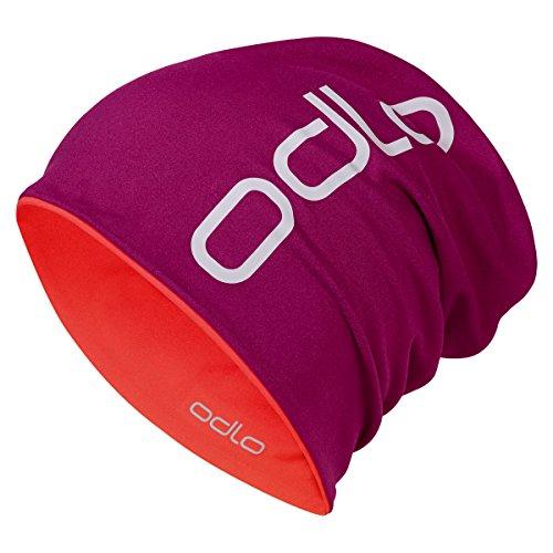 Odlo Mütze Damen Hat Reversible, Magenta Purple - Pomegranate, One size, 792680
