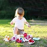 Attipas UFO (20, Blau) Kinder Barfußschuhe, ergonomische Baby Lauflernschuhe, atmungsaktive Kinder Hauschuhe ABS Socken Babyschuhe Antirutsch -