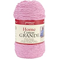 Premier Yarns Solid Home Cotton Grande Yarn, Pastel Pink