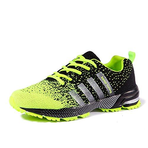 Uomo Donna Scarpe Da Sportive Running Basket Sneakers Estive Verde 43