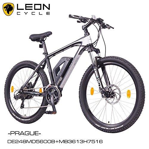 NCM-Prague-26-Zoll-Elektrofahrrad-Mountainbike-E-MTB-E-BikePedelec-ALU-36V-250W-Li-NCM-Akku-mit-13Ahschwarzsilber
