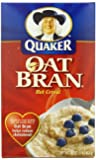 Quaker Hot Oat Bran Hot Cereal, 16-Ounce Boxes (Pack of 6)