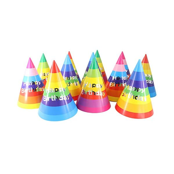 Birthday Party Hats For Kids Supplies Rainbow Boys Girls And Adults 12 PCS