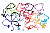Beta Jewelry Fashion Multicolor Silk Decenarios Bracelet Wholesale 14pcs 5.5cm Diameter
