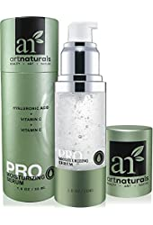 ArtNaturals Hyaluronic Acid Serum 1 oz -BEST Anti Aging Skin Care Product for Face Clinical Strength With Vitamin C Serum, Vitamin E & Green Tea -Reduces Wrinkles & More - For Youthful & Radiant Skin