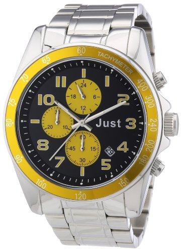 Just Watches 48-S1230-YL - Orologio da polso unisex, acciaio inox, colore: argento
