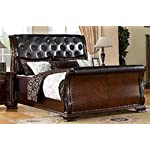 247SHOPATHOME IDF-7267EK Sleigh-beds, King, Cherry