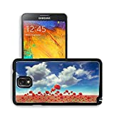 Nature Flowers Fields Outdoors Poppies Samsung Note 3 N9000 Snap Cover Premium Aluminium Design Back Plate Case Open Ports Customized Made to Order Support Ready 5 14/16 Inch (150mm) X 3 2/16 Inch (80mm) X 11/16 Inch (17mm) MSD N3 Note 3 Professional Cases Accessories Graphic Covers Designed Model Cases Plastic Luxury Protector Cellphone Wireless Cell phone