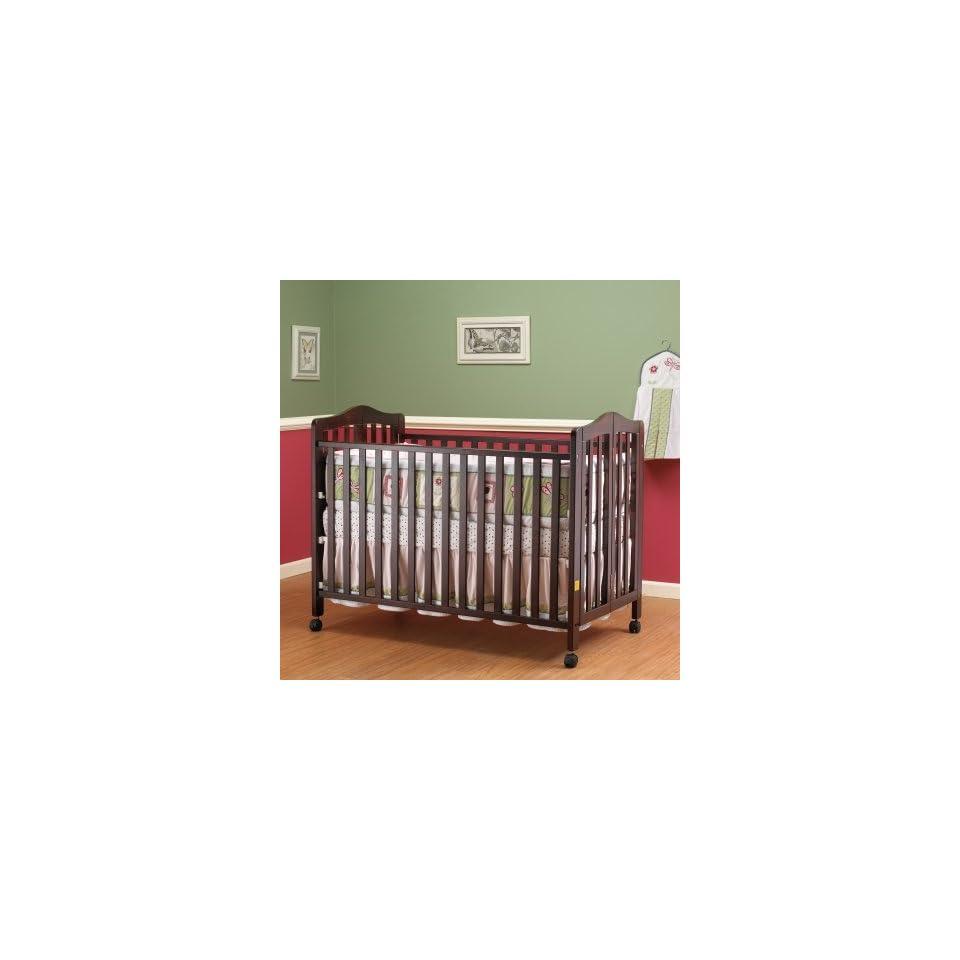 Orbelle Lisa Full Size Folding Crib   Cherry Baby