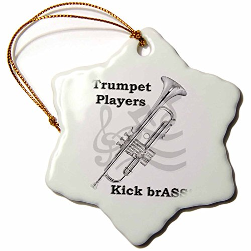 Trumpet Players Kick Brass Ornament
