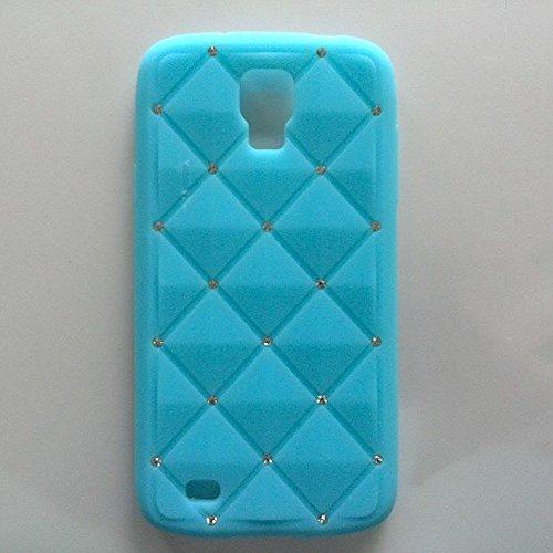 Cellmacstm Silicone Rubber Jelly Bling Case With Rhinestone Diamonds For Samsung Galaxy S4 Active I9295 Sgh-I537 Lte-A Shv-E470S - Light Blue