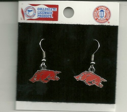 University of Arkansas Razorbacks J Hook Earrings NCAA at Amazon.com