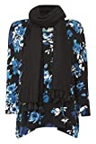 Womens Jersey Top With Scarf - Ladies - Blue - Size 10 12 14 16 18 20