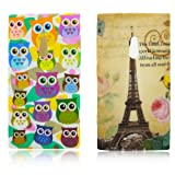 Nokia Lumia 800 TPU SILICON 2x SET PARIS + LITTLE OWL Design protection phone bumper Case bag Etui Bumper thematys®