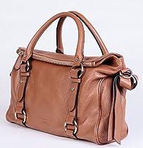Hot Sale VIVILLI Fashionable Soft Leather Double Buckle Oversized Shopper Office Laptop Tote Purse Satchel Leather Handbag