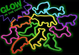 Glow Animal Rubber Bands - 24 Packs
