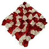 Mahalaxmi Furnishings Red Flower Cushion Cover (Color: Red And White, Size: 40 CM X 40 CM )