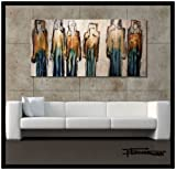 Abstract Painting, Modern Canvas Wall Art - Limited Edition Giclee on Canvas, Textured, Hand Embellished, 48