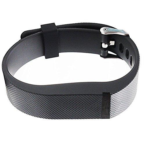 yitla Bracelet de rechange pour fibit Flex avec fermoirs noir Noir