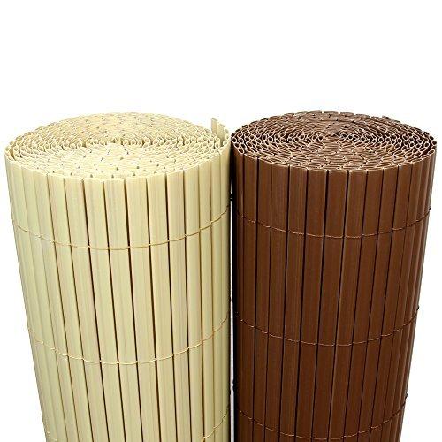 5m-PVC-Bambus-Sichtschutzmatte-100cm-x-300cm-Bambus-Natur-Sichtschutz-Windschutz-Gartenzaun-Balkon-Umspannung-Zaun-Rapid-Teck