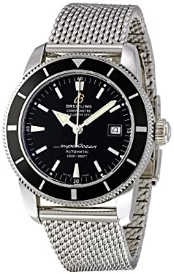 Breitling Men's A1732124/BA61SS Superocean Heritage 42 Black Dial Watch by Breitling