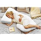 Today's Mom Cozy Cuddler Pregnancy Maternity Body Pillow, White