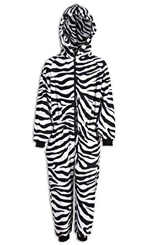 Camille Childrens Unisex Zebra Print All In One Pyjama Onesie