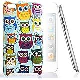 CASEiLIKE ® - Multi búho gráfica - BABY BLUE - Snap-on duro caso volver cubrir de Apple 4 G Touch / iPod Touch 4ta generación - con 1pcs de PROTECTOR de pantalla.