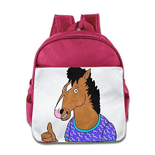 JXMD Custom Superb BoJack Horseman Kids Children School Bag For 1-6 Years Old Pink