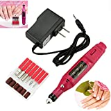 TekDeals Nail File Drill Kit Electric Manicure Pedicure Acrylic Portable Salon Machine