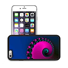 buy Luxlady Premium Apple Iphone 6 Plus Iphone 6S Plus Aluminum Backplate Bumper Snap Case Image Id 30880049 Beautiful Colorful Computer Generated Spiral Fractals On Black Background