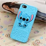 Lovetsal Cute Disney 3d Silicone Soft Case for Apple Iphone 5/5s (Cuties Stitch) + 1psc Lovestal Wristband