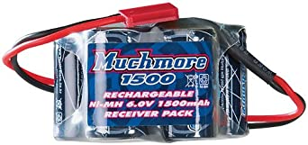 Muchmore Racing MMBR15H NiMH 2/3 6.0V 1500mAh RX Hump Pack