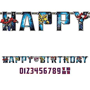 Transformers Add-An-Age Letter Banner (Each) by AMSCAN
