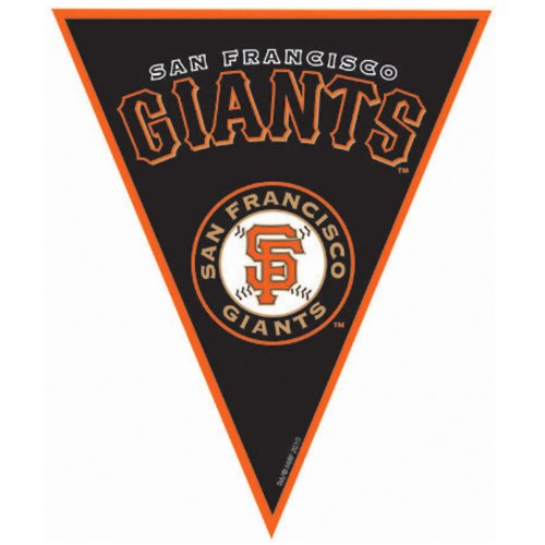 Amscan Timeless San Francisco Giants Major League Baseball Pennant Banner, 12', Black