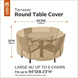 Classic Accessories 58222-EC Terrazzo Round Patio Table & Chair Set Cover, Large