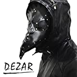 【DEZAR】ペストマスク ペスト医師 コスチューム ホラー コスチューム用小物 仮面 マキシマム Plague Doctor mask フリーサイズ 怖い 鳥 マスク ハロウィン で注目される事間違いなし