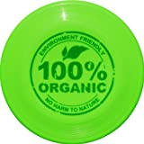 Eurodisc 110g Kids Ultimate Frisbee Flying Disc 98% ORGANIC MATERIAL - BRIGHT GREEN