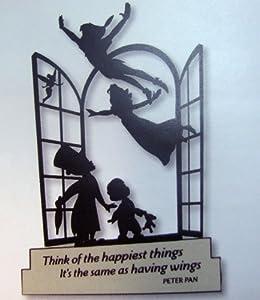 Hallmark Disney DYG9646 Peter Pan And Tinker Bell Silhouette