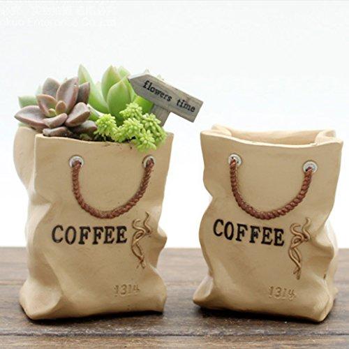 resin-shopping-bag-sedum-succulent-pot-planter-bonsai-trough-box-plant-bed