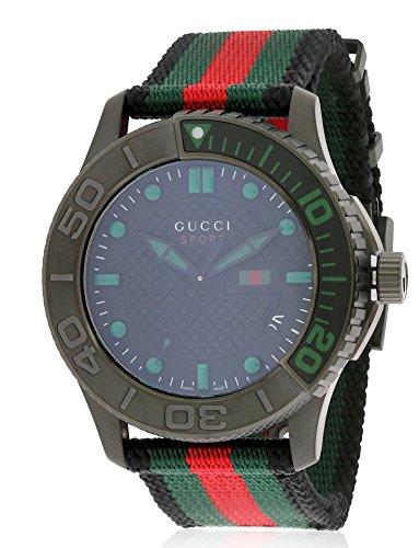 R. GUCCI TIMELESS XL SPORT NEGRE/VERD relojes hombre YA126229