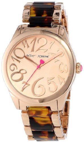 Betsey Johnson Women's BJ00105-09 Analog Tortoise Link Bracelet Watch