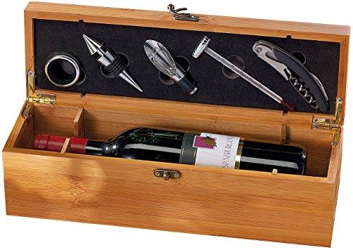 Carlo Milano 5-tlg. Sommelier-Set in edler Geschenkbox für 1 Weinflasche