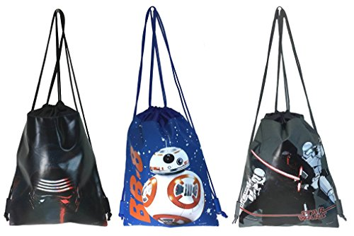 Disney Star Wars Drawstring/backpack Set of 3 (Disney Draw Bag compare prices)