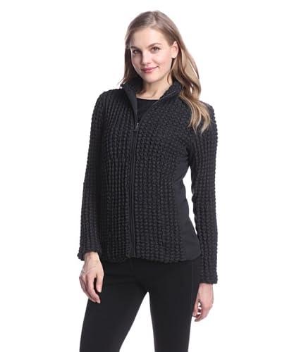 Jones New York Women's Textured Zip-Up Jacket