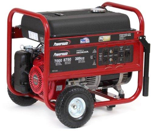 Powermate Pc0497000 Honda Engine Portable Generator With Recoil Start, 7000-Watt, Csa Compliant